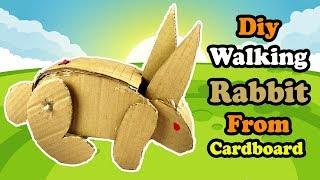 Diy Walking Rabbit From Cardboard | How To Make Rabbit Robot At Home