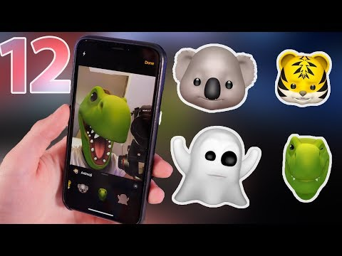 Looking at the new Animojis in iOS 12 (+ Memoji)