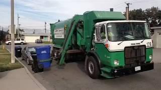 Calmet services trash truck #128 Autocar Asl