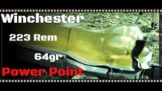 Winchester Ranger 223 Rem 64gr Power Point Ammo Ballistic Gel Test (HD)