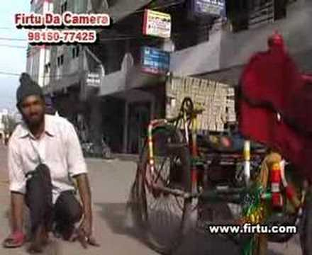 Polio affected street singer in action
