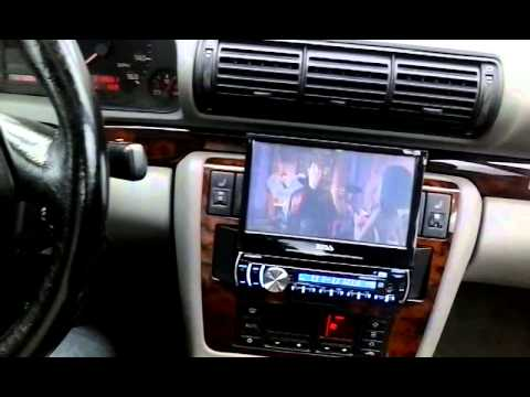 1998 audi a4 bose system with aftermarket radio dvd youtube. Black Bedroom Furniture Sets. Home Design Ideas