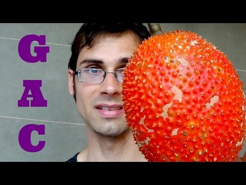 Gac Fruit Review - Weird Fruit Explorer in Thailand - Ep 79