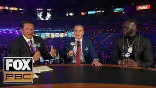 Deontay Wilder and Ray Mancini react to Manny Pacquiao's win over Keith Thurman | PBC ON FOX