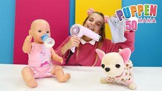 Puppen Mama. Rose hat eine Termin beim Arzt. Spielzeugvideo