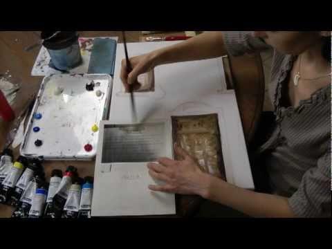 Kreativplus itzehoe acrylmalerei collage ano 1910 mit - Collagen selber machen ...