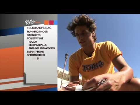 Feliciano Lopez Bag Check