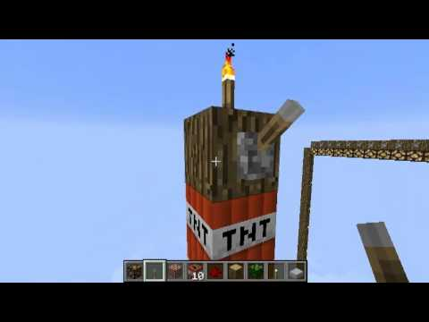 [hd] Minecraft: Tnt With The New 256 Top Height. video