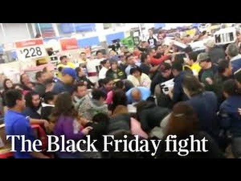 Walmart Black Friday Fight! Novemeber 2015 WTF is wrong with people!