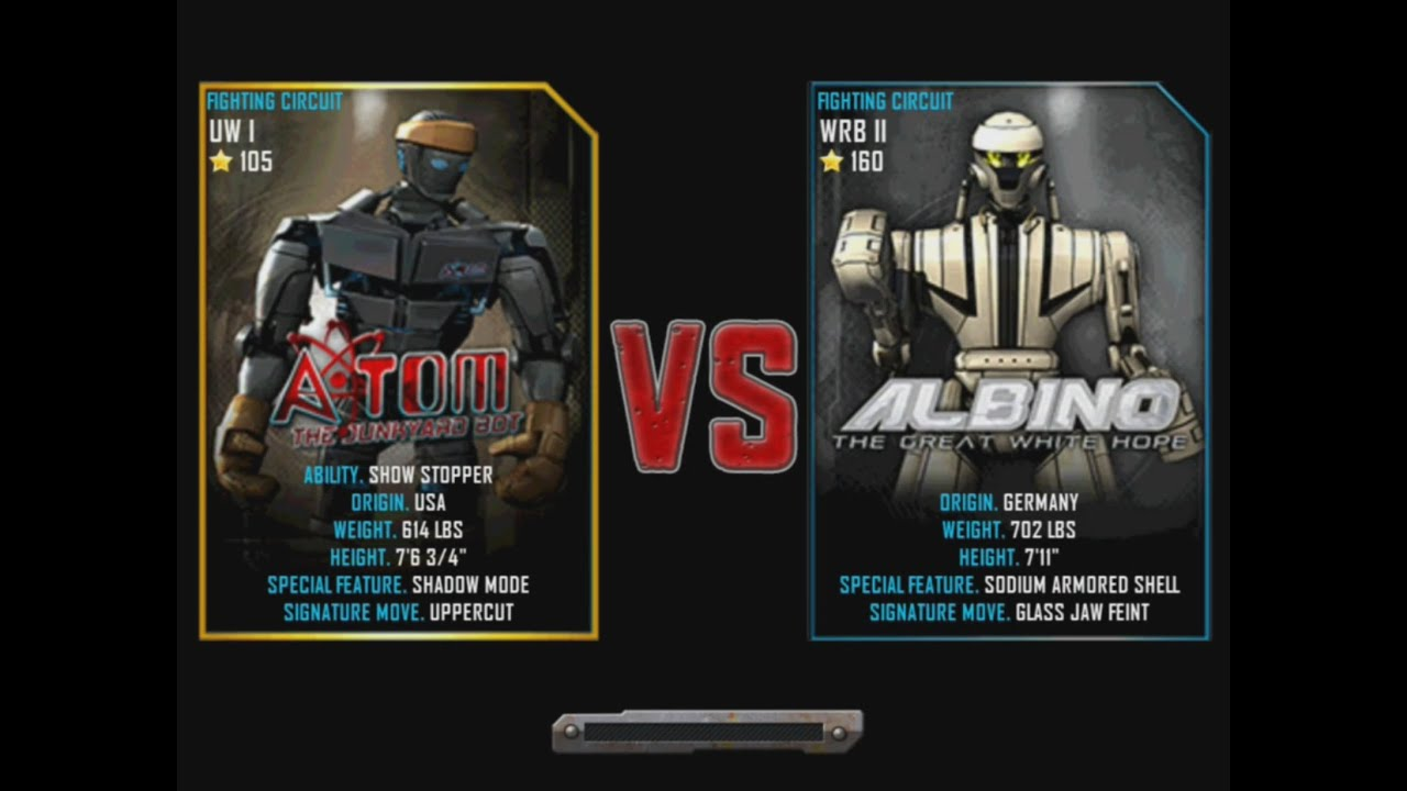 Albino Real Real Steel Wrb Atom vs Albino