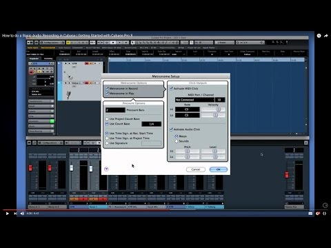 How to Record Audio in Cubase | Getting Started with Cubase Pro 8