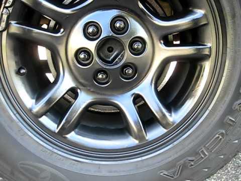 2002 Dodge Durango 4 7l Black Painted Rims Youtube