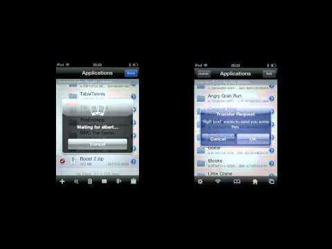 como enviar y recibir aplicaciones o archivos por bluetooth desde mi iphone,ipad y ipod touch en HD