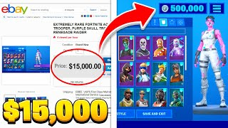 Top 10 RAREST Fortnite Accounts OF 2019!