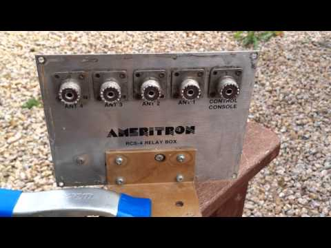 Inside an Ameritron RCS-4 Coax Switch Relay & Control Box