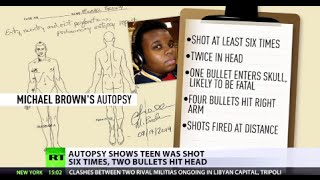 Autopsy shows Michael Brown was shot six times, two bullets hit head