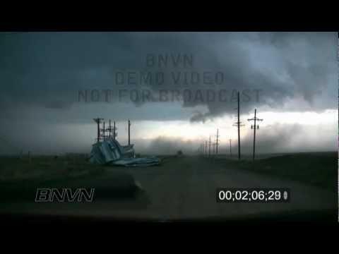 6/15/2009 Kinsley, KS Destructive Wind Footage
