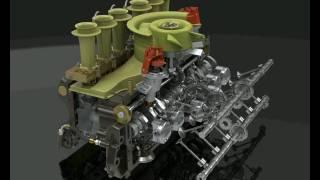 PORSCHE 917 ENGINE ANIMATION