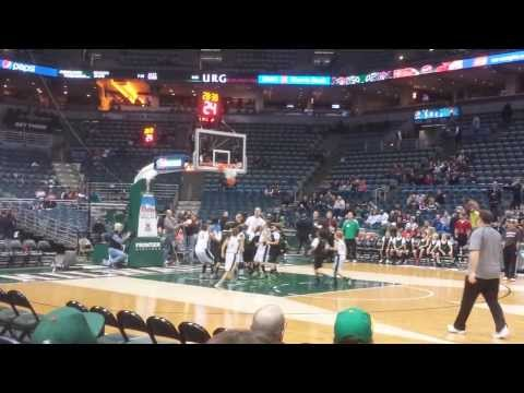 Noah choate #23 playing at the bradley center scores an easy 2