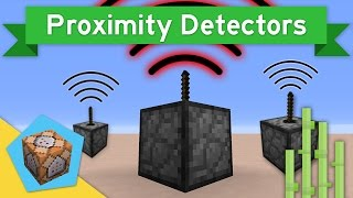 DETECT NEARBY ENTITIES in Vanilla Minecraft 1.10+ | Proximity Detectors Command Block Creation