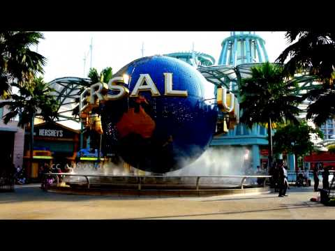 Biggest Universal Studios Globe in Singapore of Asia