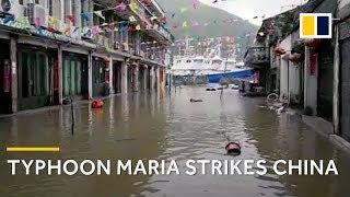 Typhoon Maria makes landfall in China after soaking Japan and Taiwan