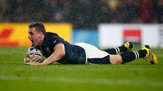 Mark Bennett snatches a late try for Scotland