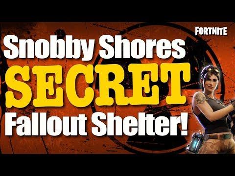 Fortnite Battle Royale: New Secret Chest Location - Snobby Shores Hidden Shelter (Fortnite BR)