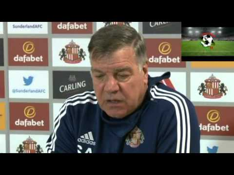 Press conference with Sunderland manager Sam Allardyce