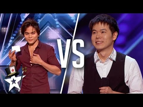 BEST Magicians Shin Lim VS Eric Chien on America's Got Talent | Top Talent