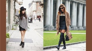 Pretty Flat Boots And Skirts