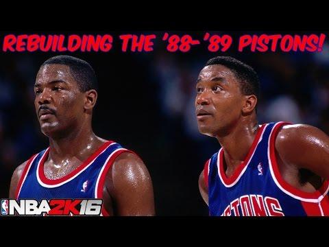 NBA 2K16 MyLeague - Rebuilding The '88-'89 Detroit Pistons!
