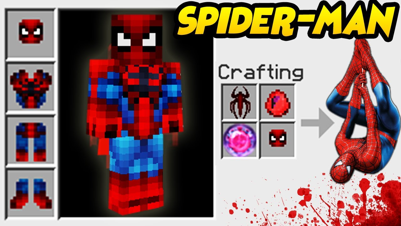 JAK ZOSTAĆ SPIDERMANEM W MINECRAFT? SUPERHEROES UNLIMITED MINECRAFT MOD! SPIDER-MAN MIENCRAFT!