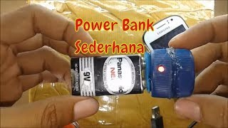 Cara Membuat Power Bank Mini || How To Make Mini Power Bank Charger.