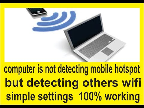 Computer PC not detecting mobile hotspot but detecting others wifi | simple settings | 100% working