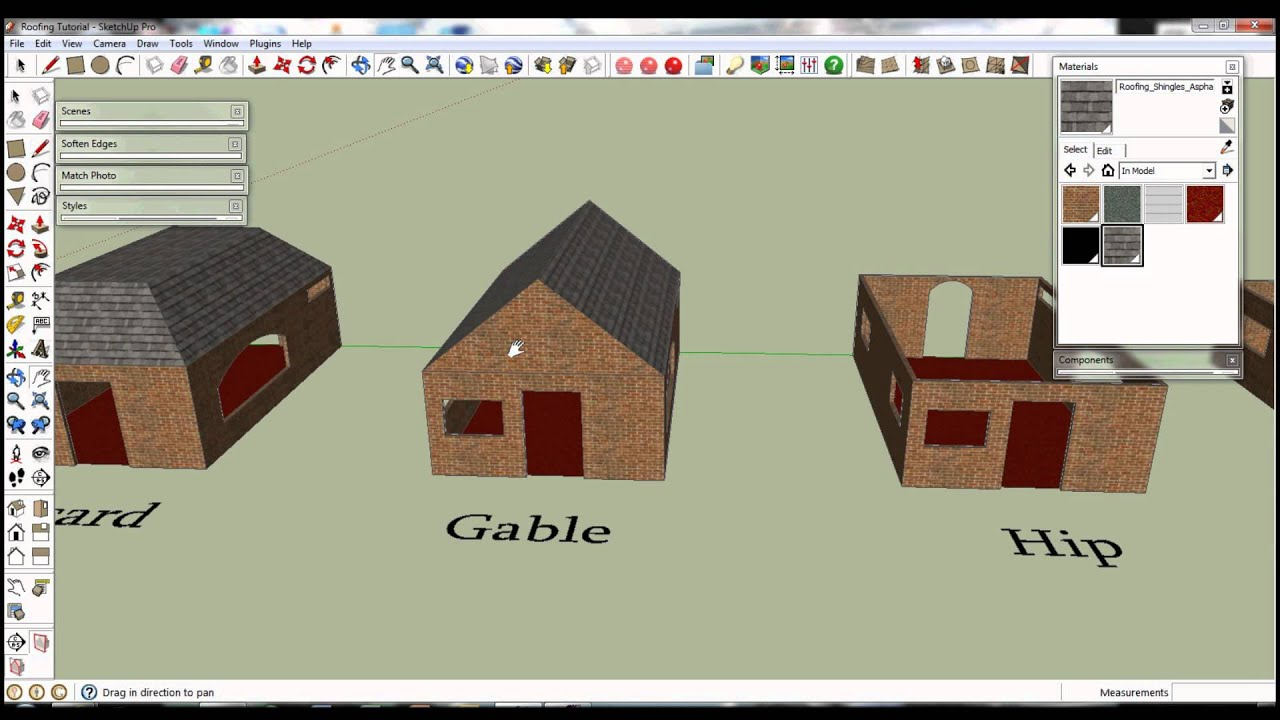Google Sketchup Roofing Tutorial Youtube