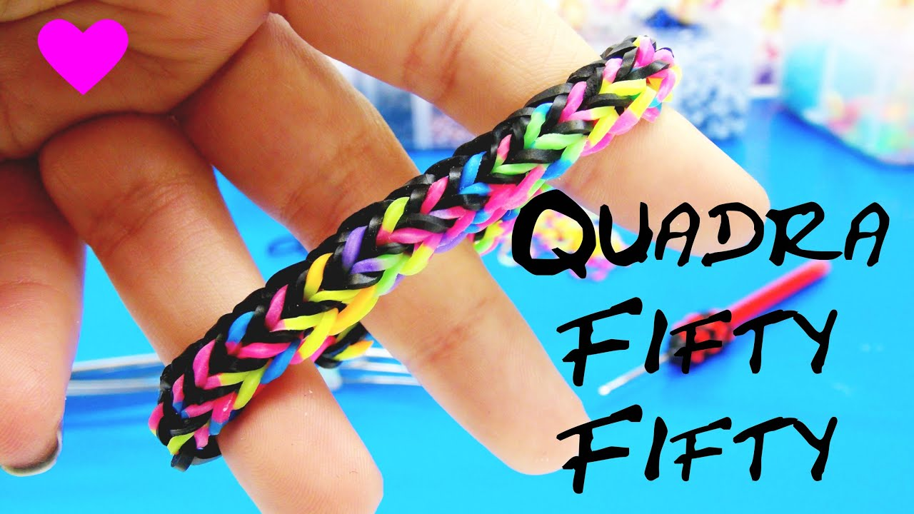 Fishtail Loom Band Bracelet Loom Bands Quadra Fishtail