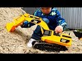 Excavator for children and Truck Construction Vehicles Bruder toys Kids Video Экскаватор для детей