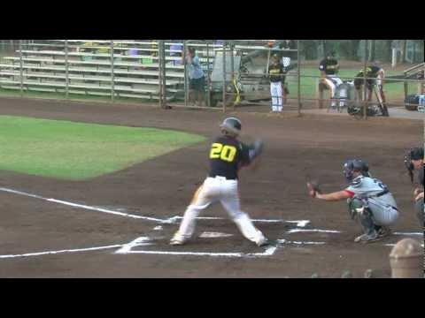 08/14/12 Nick Valdez 2 Home Runs and Interview - Na Koa Ikaika Maui Baseball vs. Hawaii Stars Hilo