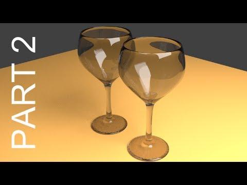 Blender Tutorial For Beginners: Wine Glasses 2 of 2