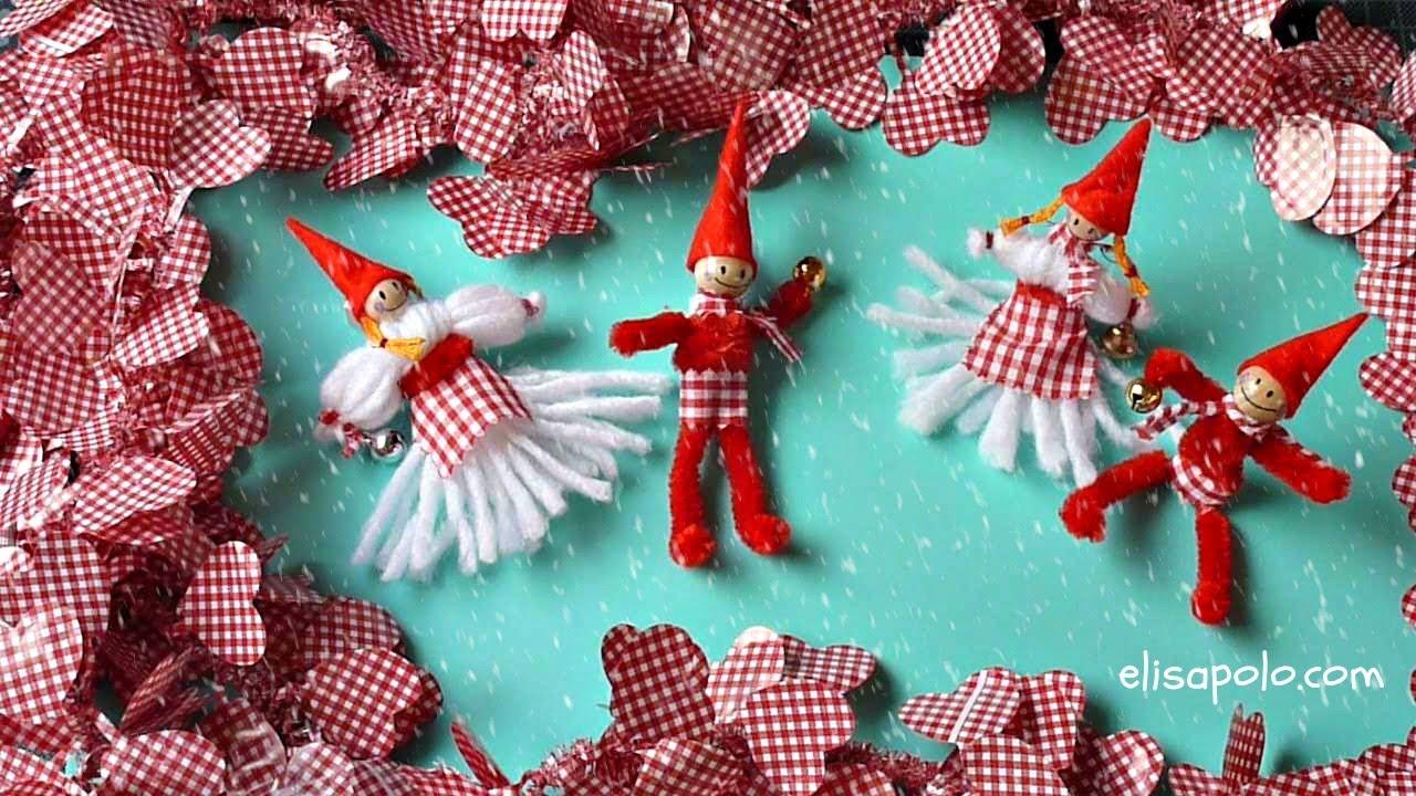 Diy c mo hacer duendes para navidad nordic christmas - Arbol de navidad tela ...