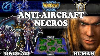 Grubby | Warcraft 3 TFT | 1.30 | UD v HU on Echo Isles - Anti-Aircraft Necros