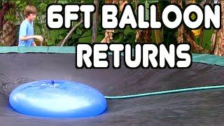 Giant 6ft Water Balloon On Trampoline!