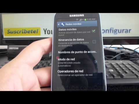 como buscar operador red en samsung Galaxy s3 mini i8190 español Full HD