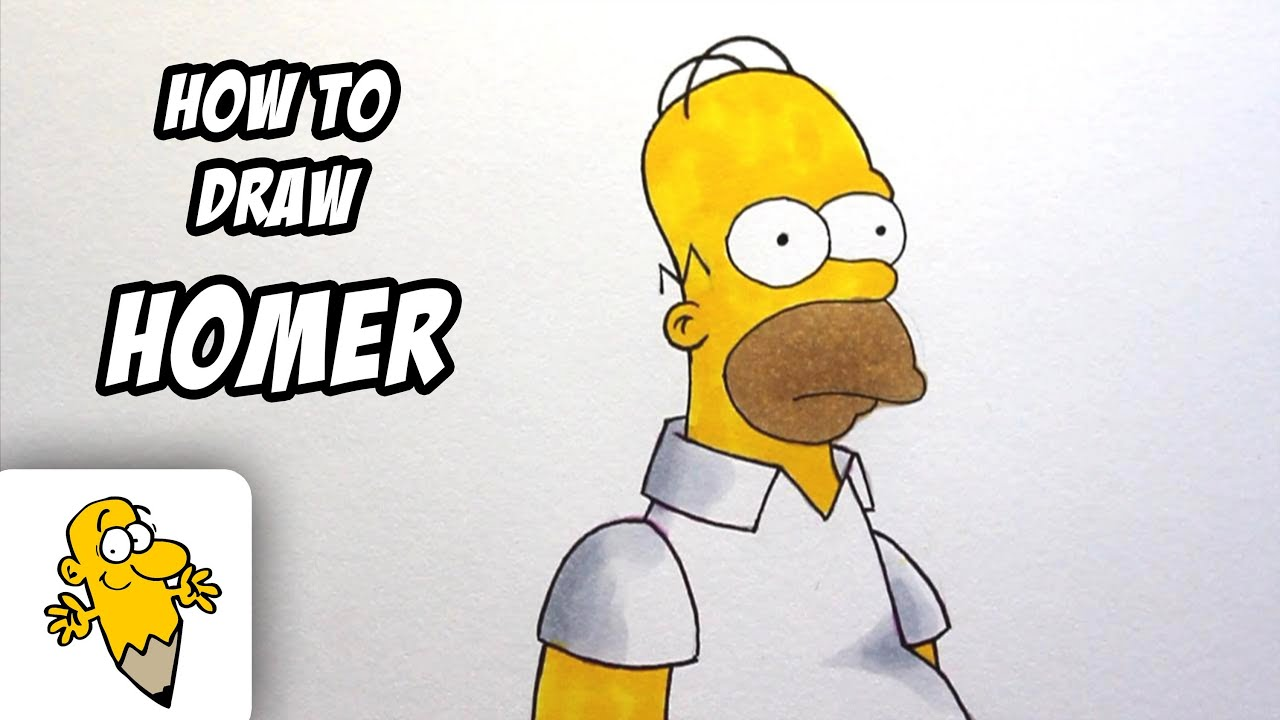 Simpson Drawing Tutorial How to Draw Homer Simpson The
