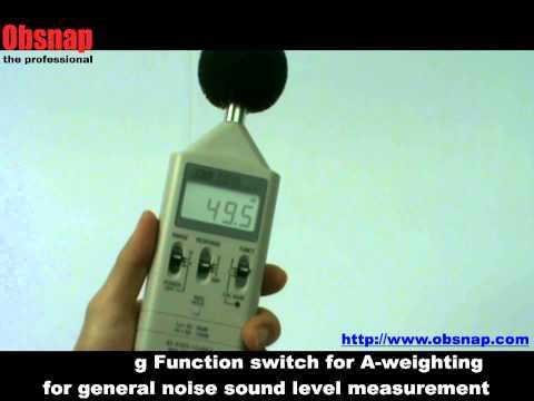 Digital Sound level Meter TES 1351 at Obsnap Instruments