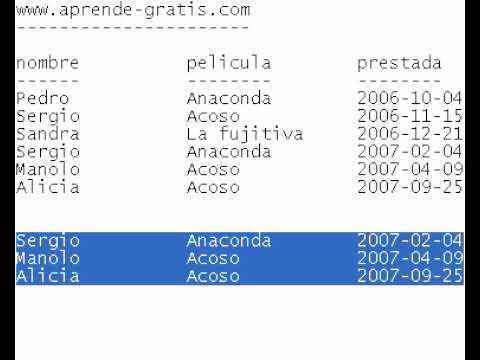 Base de datos 06 - Extraer datos de las tablas
