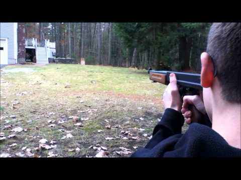 Airsoft King Arms Thompson M1A1 Military Shooting/Accuracy Test