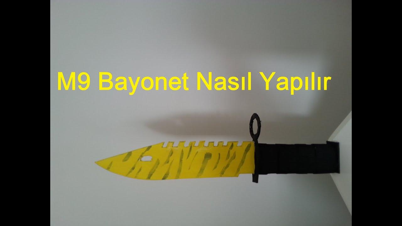 Как сделать нож из бумаги м9