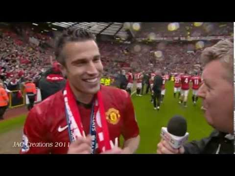 Robin Van Persie Says Trophy Is Heavy - Post Match Interview Manchester United 2-1 Swansea
